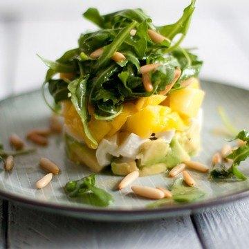 Rezept Avocado-Mango-Salat mit Büffelmozzarella