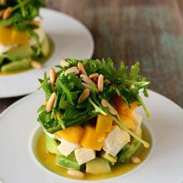 Rezept Avocado-Mozzarella-Mango-Salat