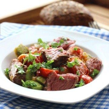 Rezept Avocado-Steak-Pfanne