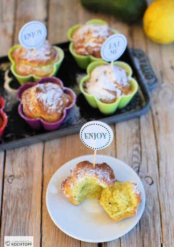 Rezept Avocado-Zitronen-Muffins