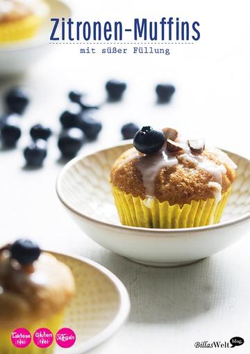 Rezept Backen ohne Ei: Zitronenmuffins mit süßer Füllung