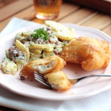 Rezept Backfisch mit Omas Kartoffelsalat