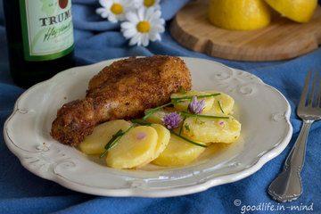 Rezept Backhendl und Erdäpfelsalat