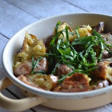Rezept Backkartoffelsalat mit Bärlauch