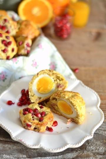 Rezept Bacon & Ei Scones oder Granatapfel-Orangen Scones mit Joghurt