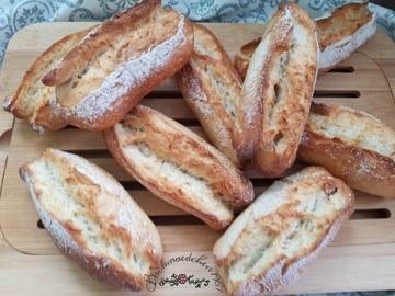 Rezept Baguettebrötchen ohne Hefe