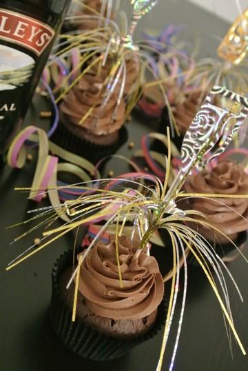 Rezept Baileys Cupcakes für Silvester