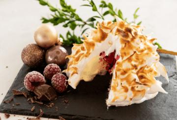 Rezept Baked Alaska - flambierte Eistorte