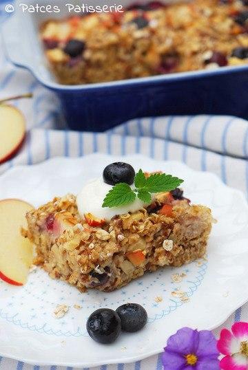 Rezept Baked Bluberry Oatmeal [Gebackener Haferflocken-Auflauf]
