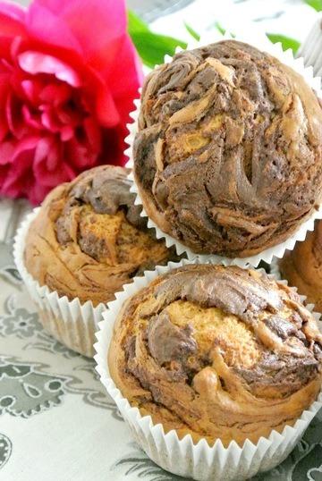 Rezept Bananen Nutella Swirl Muffins