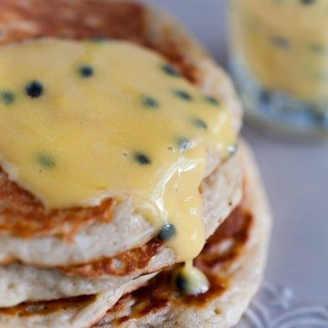 Rezept Bananen-Pancakes mit Passionsfrucht-Butter
