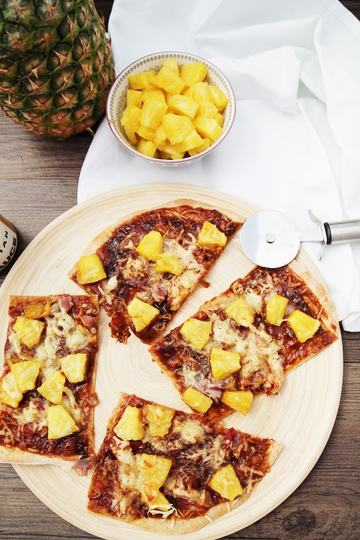 Rezept Barbecue Hawaii Pizza
