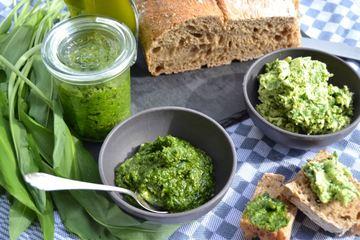 Rezept Bärlauch Pesto - Butter und Öl