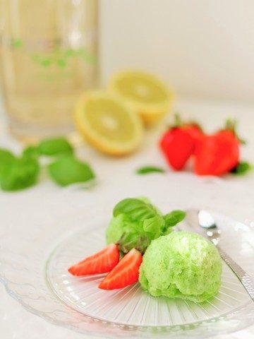 Rezept Basilikum-Gin-Sorbet