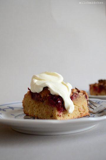 Rezept Baumkastenkuchen: Marzipan-Rührteig, Obst, Streusel