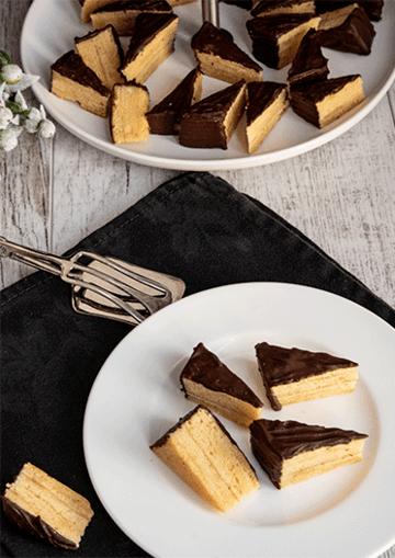 Rezept Baumkuchenspitzen mit Marzipan und Amaretto