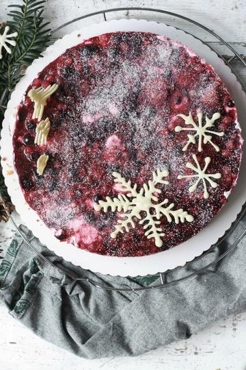 Rezept Beerenkuchen mit Quarkcreme und Keksboden