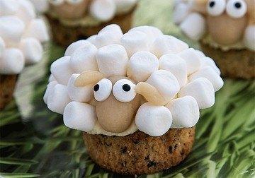 Rezept Beschwipste Osterlämmchen-Cupcakes