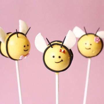 Rezept Bienen & Blumentopf Cake Pops