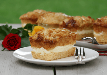 Rezept Bienenstich Muffins mit Amaretto-Vanillecreme