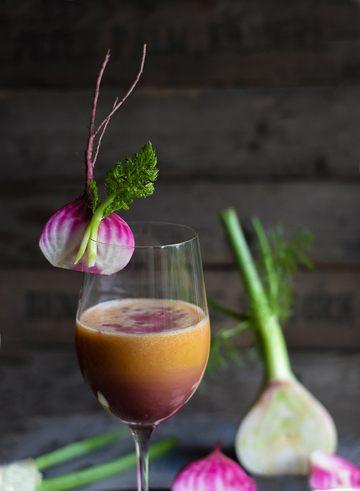 Rezept Birnen-Apfel-Karottensaft mit Fenchel und Rote Bete