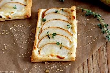Rezept Birnen-Feta-Tarte