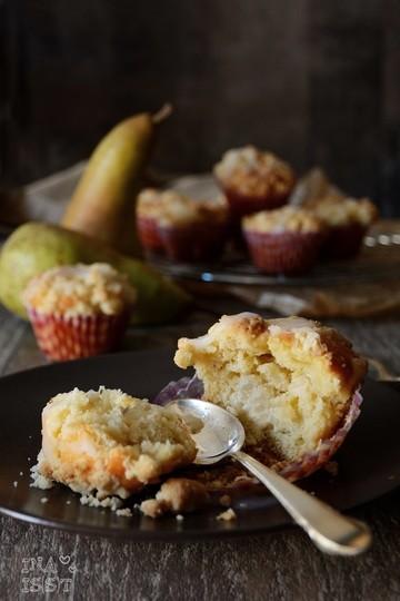 Rezept Birnen-Käsekuchenmuffins mit Vanille