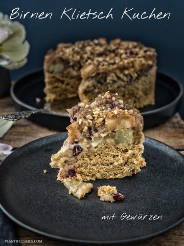 Rezept Birnen Klietsch Kuchen mit Gewürzen