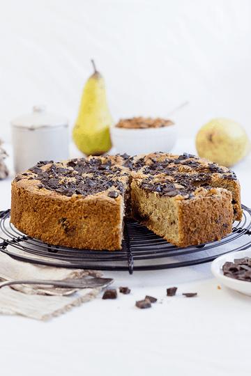 Rezept Birnen-Schoko-Mandelkuchen