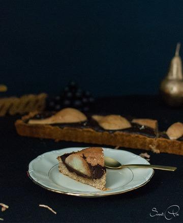 Rezept Birnen-Schokoladen-Karamell-Tarte