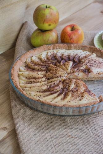 Rezept Birnenkuchen mit Kardamom-Zimt-Pudding