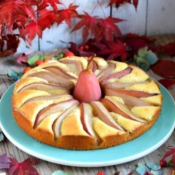 Rezept Birnenkuchen mit Marzipan