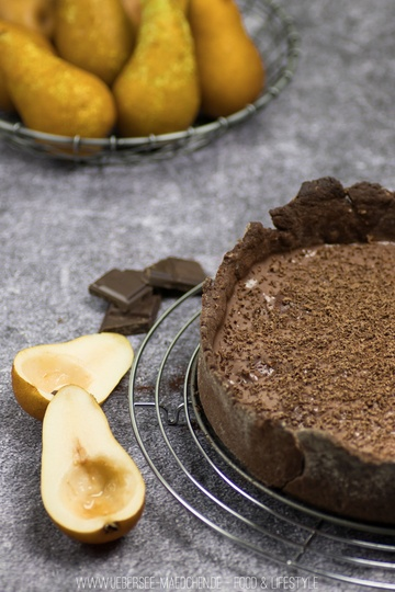 Rezept Birnenkuchen mit Schokopudding