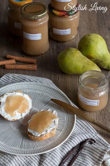 Rezept Birnenmarmelade mit Vanille und Zimt
