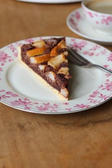 Rezept Birnentarte mit Kardamom und Schokolade