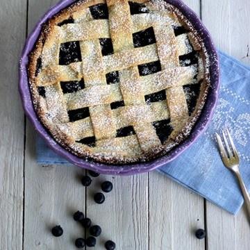 Rezept Blåbärspaj - Schwedische Heidelbeer-Pie