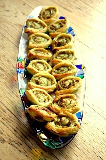 Rezept Blaetterteig-Pesto Roellchen