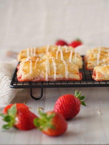 Rezept Blätterteigtäschchen mit Erdbeeren und Ingwer
