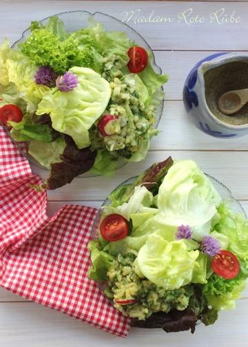 Rezept Blattsalate mit Kartoffel-Kräuter-Vinaigrette