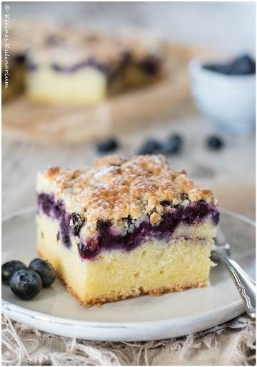 Rezept Blaubeer-Buttermilch-Kuchen mit Streuseln