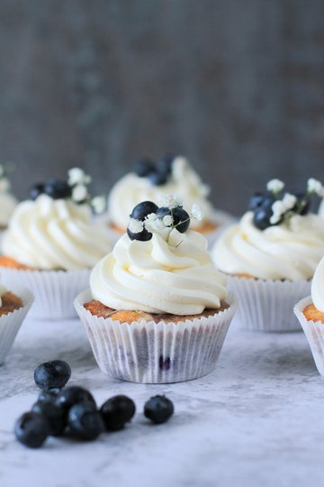 Rezept Blaubeer-Cupcakes mit Buttercreme