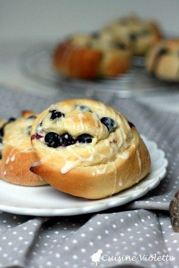 Rezept Blaubeer-Schnecken mit Frischkäse