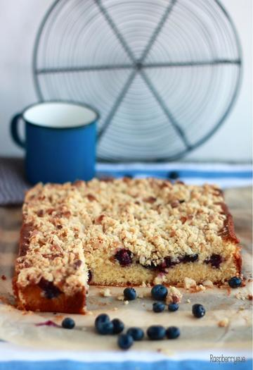 Rezept Blaubeer Streusel Blondies