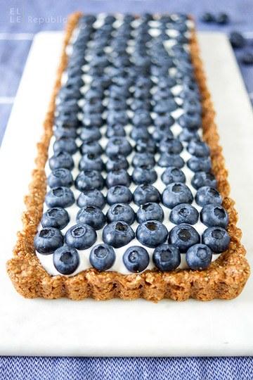 Rezept Blaubeer Tarte mit Joghurt (glutenfrei)