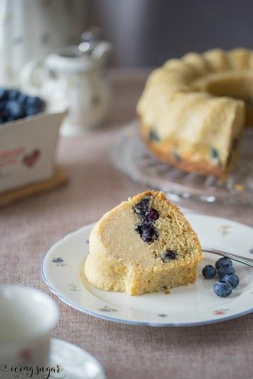 Rezept Blaubeeren Zitronen Flan Kuchen