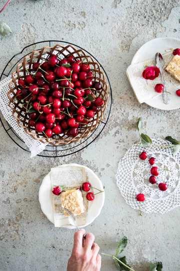 Rezept Blechkuchen mit Kirschen und Streusel