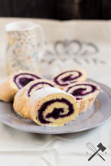 Rezept Blitzschnelle Biskuitroulade mit Marmelade