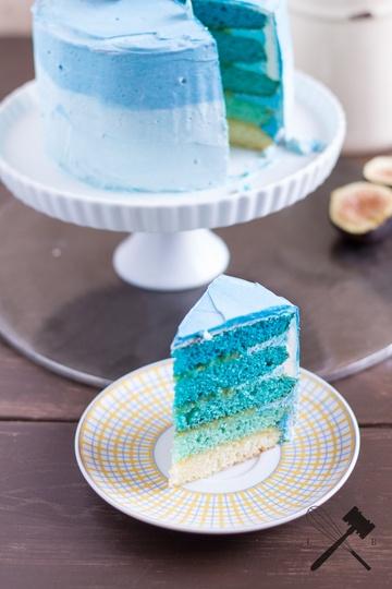 Rezept Blue Ombre Cake