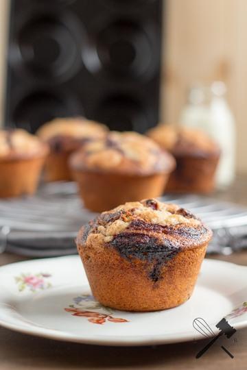 Rezept Blueberry-Swirl Streusel Muffins