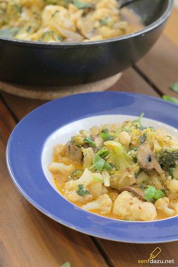 Rezept Blumenkohl Brokkoli Curry